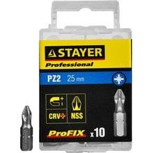 Биты PZ2 25 мм 10 шт STAYER ProFix 26221-2-25-10_z01