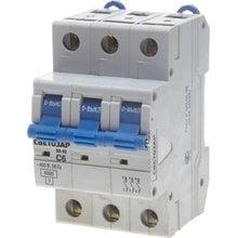 Автоматический выключатель 3-полюсный 6А 6кА СВЕТОЗАР SV-49063-06-C