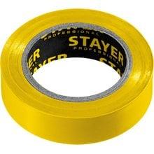 Изолента ПВХ, не поддерживает горение, 10 м (0,13х15 мм) желтая STAYER 12291-Y