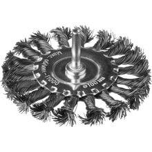 Щетка дисковая для дрели жгутированная стальная проволока 100 мм DEXX 35108-100