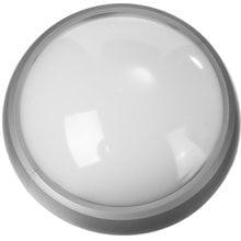 Светильник PROLight светодиодный, влагозащищенный IP65, пластиковый корпус, PC, влагозащищенный, круг, металлик, 4000К, 7(60Вт) STAYER 57362-60-S