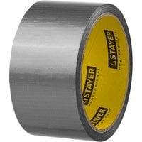 Армированная клейкая лента влагостойкая серебристая 48 мм 10 м STAYER PROFI 12080-50-10
