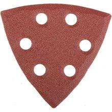 Треугольник шлифовальный универсальный на велкро основе, 6 отверстий, Р120, 93х93х93мм, 5шт STAYER 35460-120