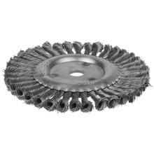 Щетка дисковая для УШМ жгутированная стальная проволока 200 мм STAYER PROFI 35120-200