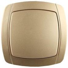 Выключатель АКЦЕНТ одноклавишный в сборе, цвет золотой металлик, 10А/~250В СВЕТОЗАР SV-54230-GM