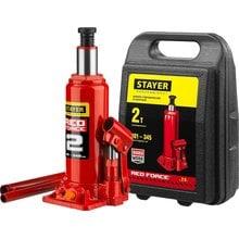 Домкрат гидравлический бутылочный 2 т 181-345 мм STAYER RED FORCE 43160-2-K_z01