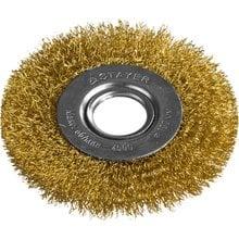Щетка дисковая для УШМ витая стальная латунированная проволока 100 мм STAYER PROFI 35122-100