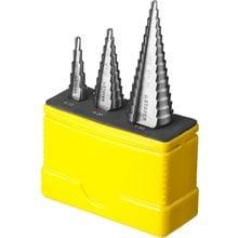 Набор из 3 ступенчатых сверл по металлу STAYER MASTER 29660-4-30-H3