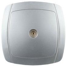 Розетка АКЦЕНТ телевизионная одинарная в сборе, цвет серебристый металлик СВЕТОЗАР SV-54215-SM