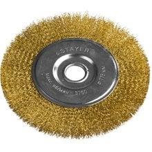 Щетка дисковая для УШМ витая стальная латунированная проволока 175 мм STAYER PROFI 35122-175