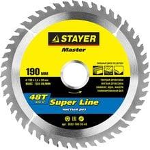 Диск пильный по дереву STAYER Master super-Line 3682-190-30-48