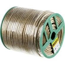 Трос стальной в полимерной оболочке 8 мм 100 м STAYER 30410-80