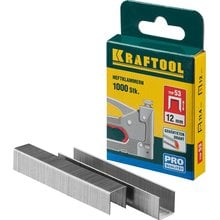 Скобы тип 53 12 мм 1000 шт. Kraftool EXPERT 31670-12