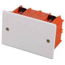 Коробка монтажная для полых стен, макс. напряжение 400В, с крышкой, 100х60х50мм, прямоугольная СВЕТОЗАР SV-54935