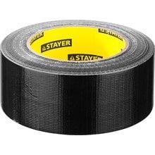 Армированная клейкая лента влагостойкая черная 48 мм 45 м STAYER PROFI 12086-50-50