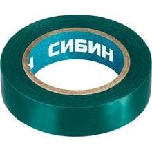 Изолента ПВХ 10 м х 15 мм зеленая СИБИН 1235-4