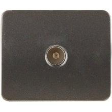 Розетка ГАММА телевизионная, без вставки и рамки, цвет темно-серый металлик СВЕТОЗАР SV-54115-DM