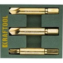 Набор экстракторов Kraftool для выкручивания крепежа с износом граней шлица до 95%.PH1/PZ1,PH2/PZ2,PH3/PZ3,3 предмета Kraftool 26770-H3