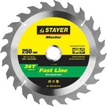 Диск пильный по дереву STAYER Master fast-Line 3680-250-30-24