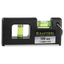 Уровень мини с магнитом Kraftool PRO МИНИ 10 см 1-34861-010