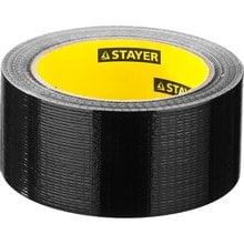 Армированная клейкая лента влагостойкая черная 48 мм 25 м STAYER PROFI 12086-50-25