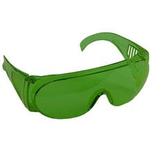Очки защитные зеленая поликарбонатная монолинза STAYER STANDART 11044