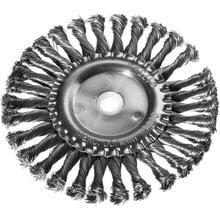 Щетка дисковая для УШМ жгутированная стальная проволока 175 мм DEXX 35100-175