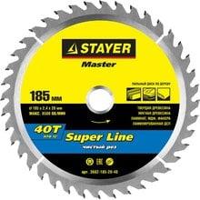Диск пильный по дереву STAYER Master super-Line 3682-185-20-40
