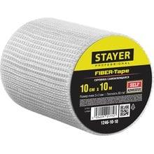 Серпянка самоклеящаяся FIBER-Tape, 10 см х 10м, STAYER Professional 1246-10-10