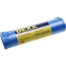 Мешки для мусора голубые 120 л 10 шт DEX 39150-120
