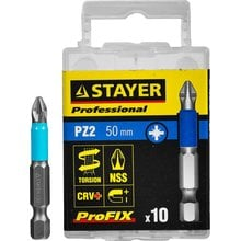 Биты PZ2 50 мм 10 шт STAYER ProFix 26223-2-50-10_z01