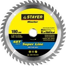 Диск пильный по дереву STAYER Master super-Line 3682-190-20-48