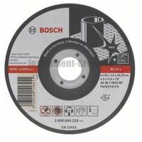 Диск отрезной по нержавеющей стали Bosch 2.608.602.220 (115х22,2х1 мм)
