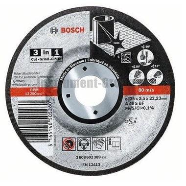 Диск отрезной по металлу Bosch 2.608.602.389 (125х22,23х2,5 мм)