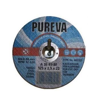 Диск отрезной по нержавеющей стали PUREVA 403213 (115х22х1,6 мм)