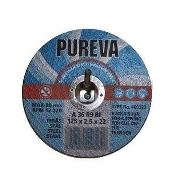 Диск отрезной по нержавеющей стали PUREVA 403313 (125х22х1,6 мм)