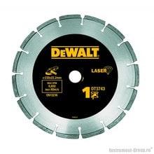 Диск алмазный сегментный DeWalt DT 3743 (230х22,2х2,4 мм; для сухого реза; по бетону)