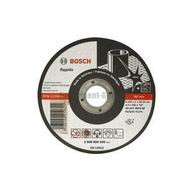 Диск отрезной Bosch 2.608.600.545 (115х22.2х1 мм;по нержавеющей стали)