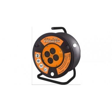 Силовой удлинитель на катушке с заземлением, 4 розетки, 50 м Glanzen EB-50-007
