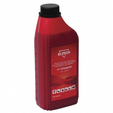 Масло для 4-х тактных двигателей полусинтетическое 1 л Elitech 2001.000100