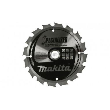 Диск пильный Makita B-29175 (165х20х2 мм; 24 зуб.; по дереву с гвоздями)