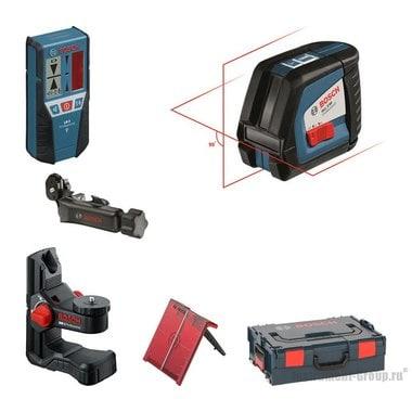 Построитель лазерных плоскостей Bosch GLL 2-50 + BM1 + LR2 в L-Boxx 136 (0601063109)