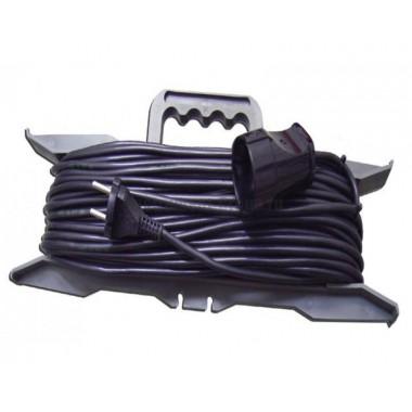 Силовой удлинитель на рамке, 1 розетка, 40 м Glanzen ER-40-001