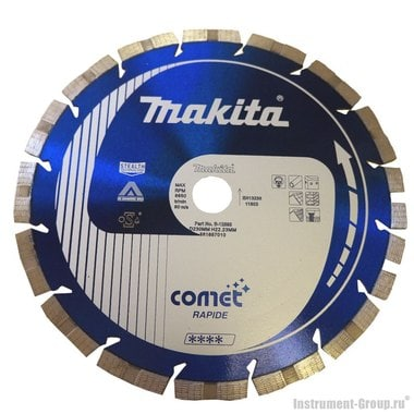 Диск алмазный сегментный Comet Rapide Makita B-12893 (230х22.23 мм; для тверд. материалов)