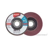 Диск шлифовальный лепестковый по металлу, дереву, пластику Makita D-27143 (180х22 мм; К60)