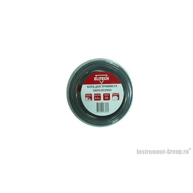 Леска Elitech 0809.003900 (3.0 мм; 15 м; квадрат)