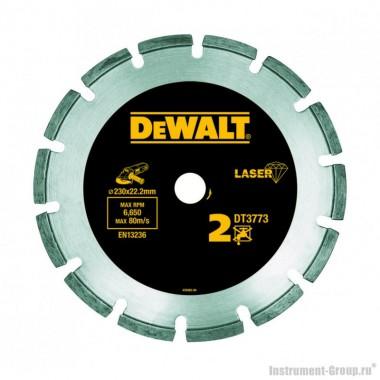 Диск алмазный сегментный DeWalt  DT 3773 (230х22.2х2.4 мм; для сухого реза абразива, бетона)
