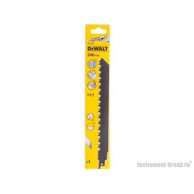 Полотно для сабельных пил 1 шт. DeWalt DT 2420 (НM; 240/12.7 мм; для порист. бетона, кирпича)