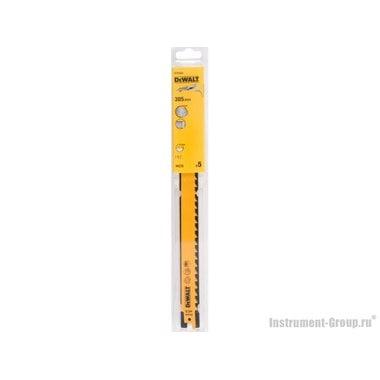 Полотно для сабельных пил 5 шт. DeWalt DT 2432 (HCS; 305/8.5 мм; быстр. пропил сыр. дерева)