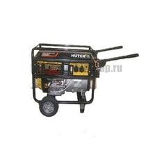 Генератор бензиновый HUTER DY6500LX с колёсами и аккумулятором